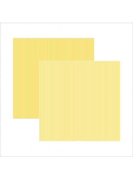 Folha para Scrapbook Básico amarelo listras