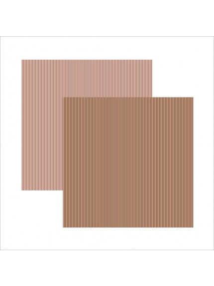 folha para scrapbook basico rosa chocolate listras