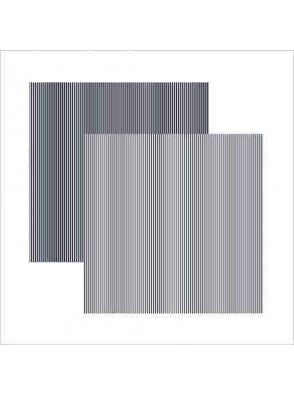 Folha para Scrapbook Básico azul marinho FB listras