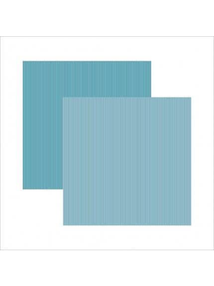 Folha para Scrapbook Básico verde azulado listras