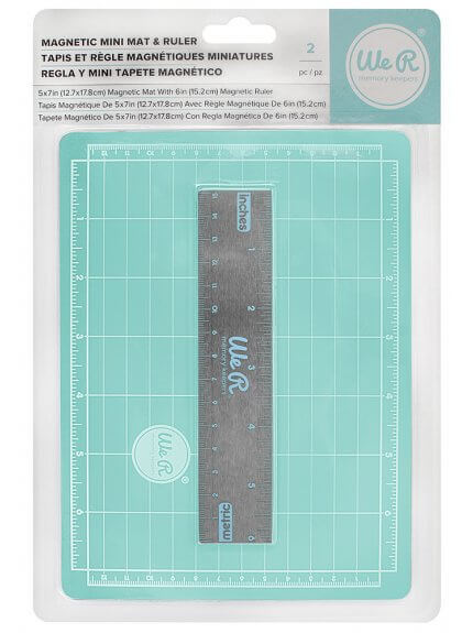 Base de Corte Magnética 12,7 x 17,8 cm (Magnetic Mini Mat & Ruler)
